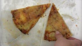 Pizza velha video estoque