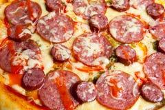 Pizza, verschiedene Arten von Pizzas zum Menü des Restaurants und Pizzeria lizenzfreies stockfoto