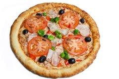 Pizza, verschiedene Arten von Pizzas zum Menü des Restaurants und Pizzeria stockfoto
