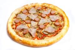 Pizza, verschiedene Arten von Pizzas zum Menü des Restaurants und Pizzeria stockfotografie