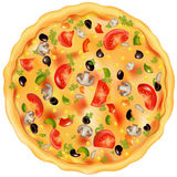 Pizza. Vetor Fotos de Stock Royalty Free