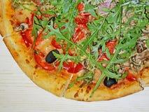 Pizza vier Jahreszeiten Stockfoto