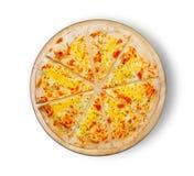 Pizza vier kaas Stock Fotografie