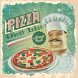 Pizza vintage banner Royalty Free Stock Photo