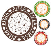 Pizza. Vintage. Isolated objects on white background. Vector illustration (EPS 10 Stock Image