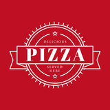 Pizza vintage sign stamp Stock Photos