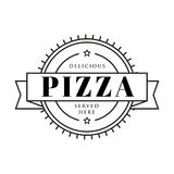 Pizza vintage sign stamp Stock Photo