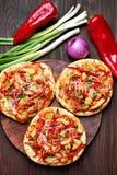 Pizza, vista superiore Fotografia Stock Libera da Diritti
