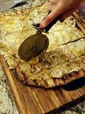 Pizza vom Grill stockbild