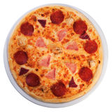 Pizza von der Spitze Stockfotografie