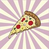 Pizza Włoski karmowy ilustracyjny fast food zdjęcie stock