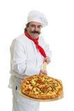 Pizza włoski Szef kuchni fotografia royalty free