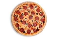 pizza włoski salami Fotografia Stock