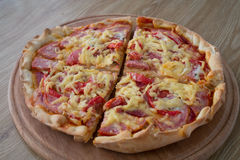 Pizza w porcjach zdjęcie royalty free