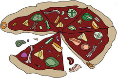 Pizza vector Royalty Free Stock Image