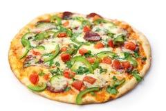 Pizza/weißer Hintergrund Lizenzfreie Stockbilder