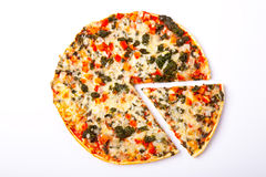 Pizza on white Stock Photography