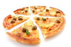 Pizza on white Royalty Free Stock Photos
