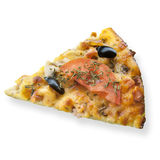 Pizza on a white Stock Photo