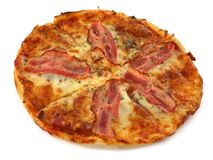 Pizza on white Stock Photo