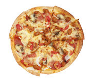 Pizza with white background Royalty Free Stock Photography