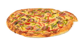 Pizza. On white background Royalty Free Stock Photography
