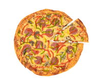 Pizza. On white background Stock Images