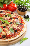 Pizza. On a white background Royalty Free Stock Photo
