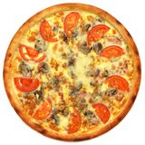 Pizza. On the white background Royalty Free Stock Images