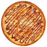 Pizza. On the white background Royalty Free Stock Photo