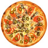 Pizza. On the white background Royalty Free Stock Image