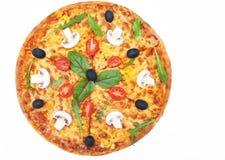 Pizza on white background Royalty Free Stock Image
