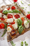 Pizza with whole wheat flour Royalty Free Stock Photos