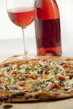 Pizza wine pairing Stock Photography