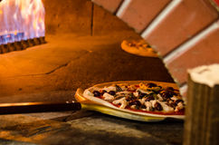 Pizza Wood Fire Stock Photography
