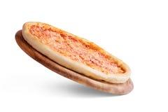 Pizza on a wooden board. Pizza on a wooden, board Stock Photography