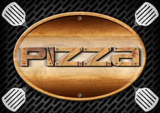 Pizza Wooden Sign Stock Photo