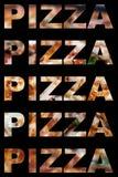 Pizza Word Montage Stock Photos
