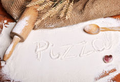 Pizza word Royalty Free Stock Image