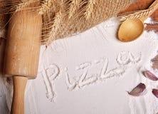 Pizza word Stock Photos