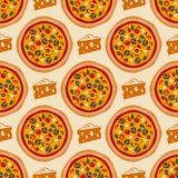 Pizza wzór Fotografia Royalty Free