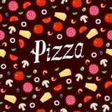 Pizza wzór Obrazy Royalty Free