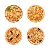 Pizza y cocina italiana. Aislado Imágenes de archivo libres de regalías