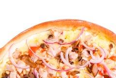 Pizza y cocina italiana. Estudio. Aislado Fotos de archivo libres de regalías