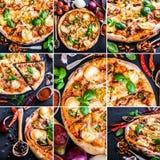 Pizza y especia foto de archivo