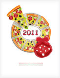 Pizza year Royalty Free Stock Photography