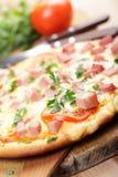 Pizza z baleronem obraz stock