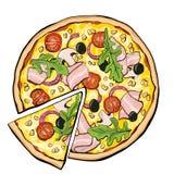 Pizza z bekonem, plasterek ilustracji