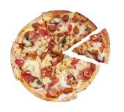 Pizza z biały tłem obraz royalty free