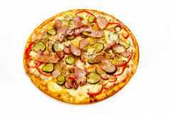 Pizza z mięsem Obraz Stock